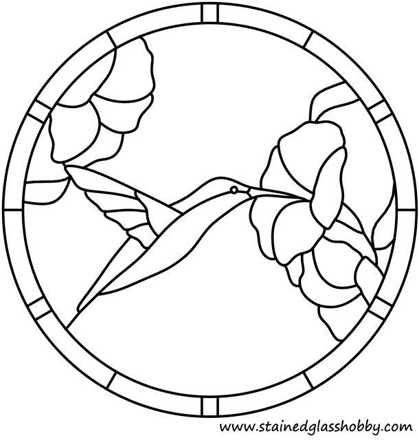 simple stained glass coloring pages - photo#9