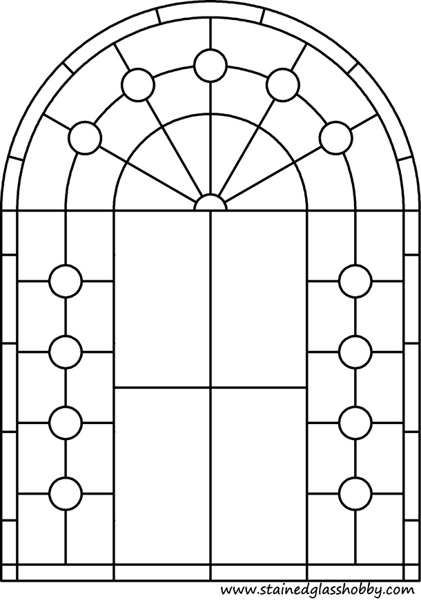 Free arch window coloring pages for Window design template