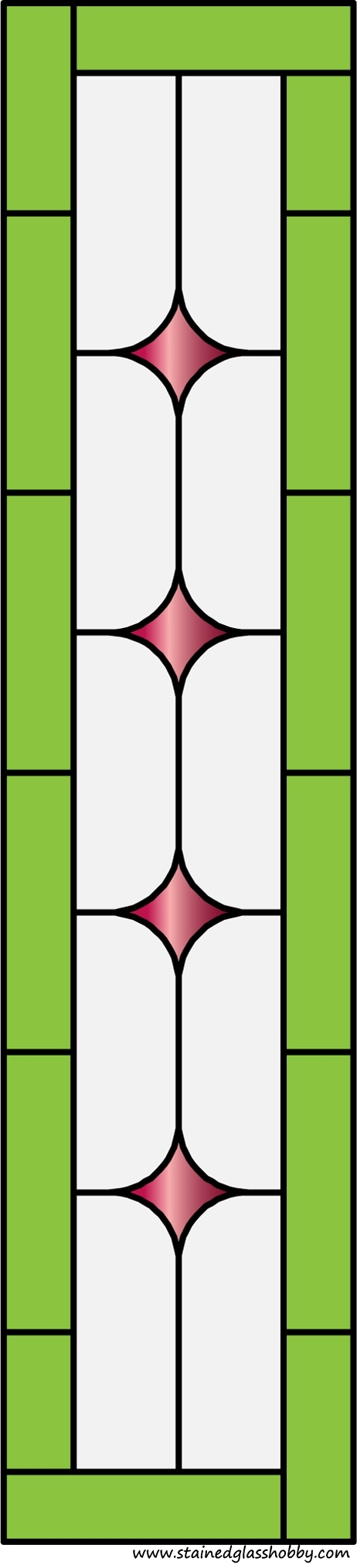 Rectangular Panel For Stained Glass 4