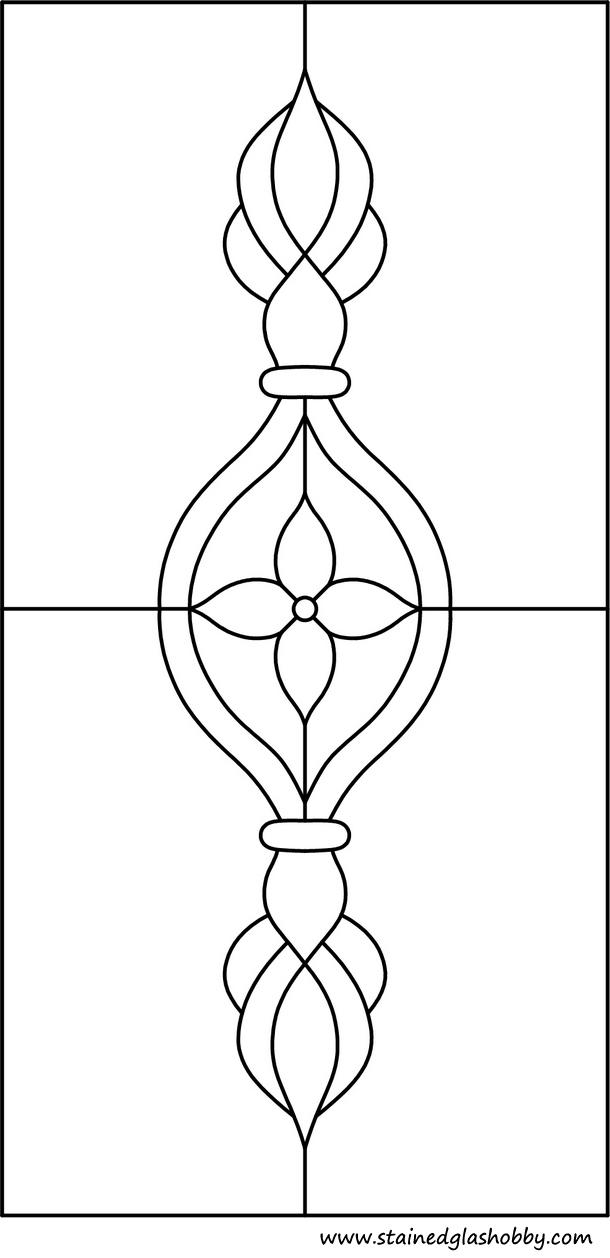 Rectangular Panel Large Pattern