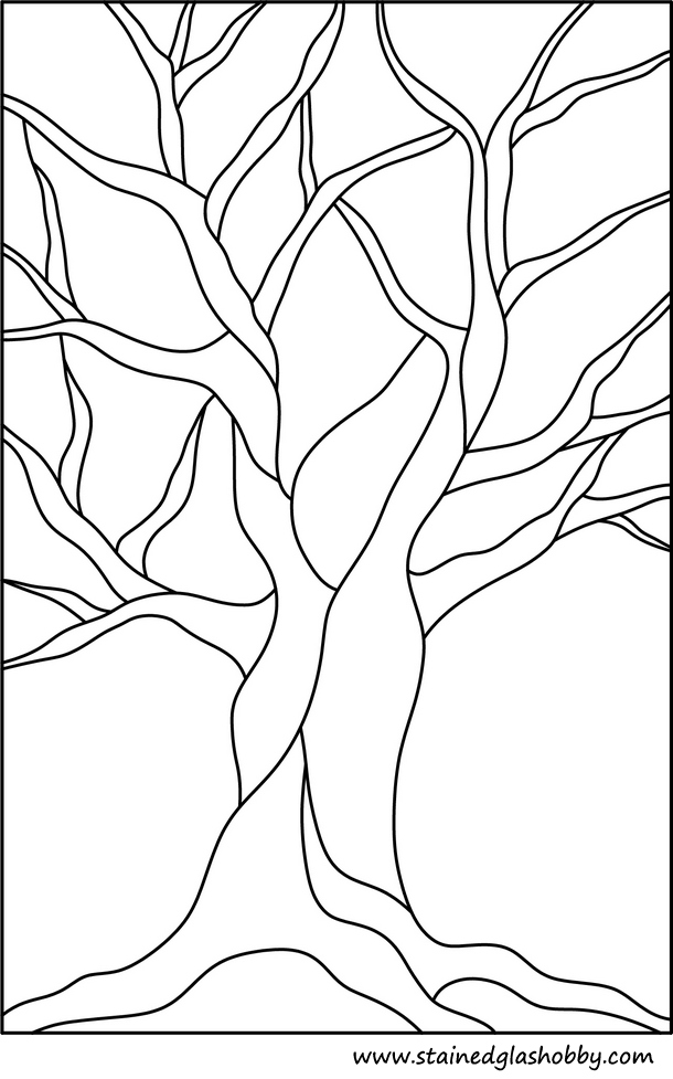 This is a picture of Crafty Tree Pattern Printable