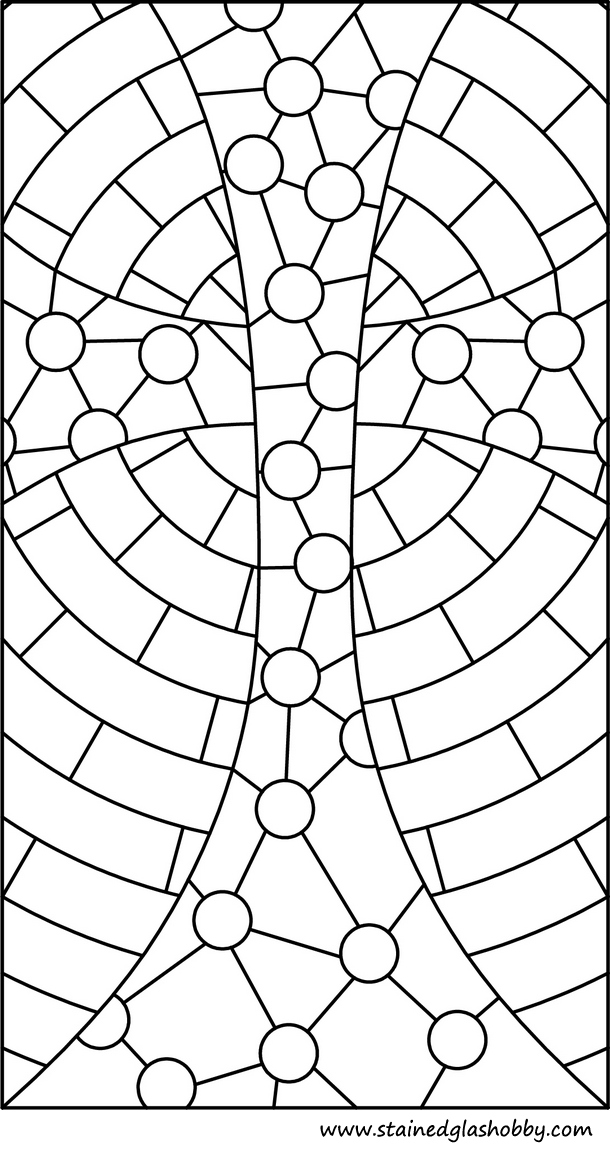 stained glass cross free pattern