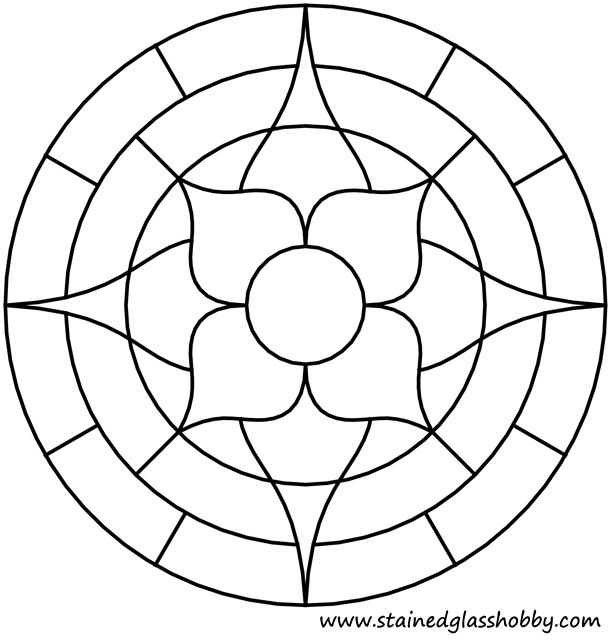 simple stained glass coloring pages - photo#11
