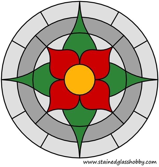 Flower round panel color design