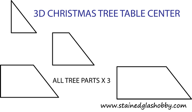 free christmas tree pattern - 3D Christmas Tree Table Center Pattern