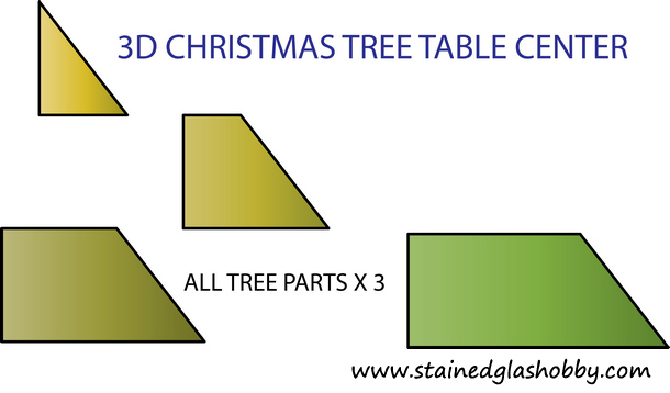 stained glass xmas tree pattern - 3D Christmas Tree Table Center Pattern