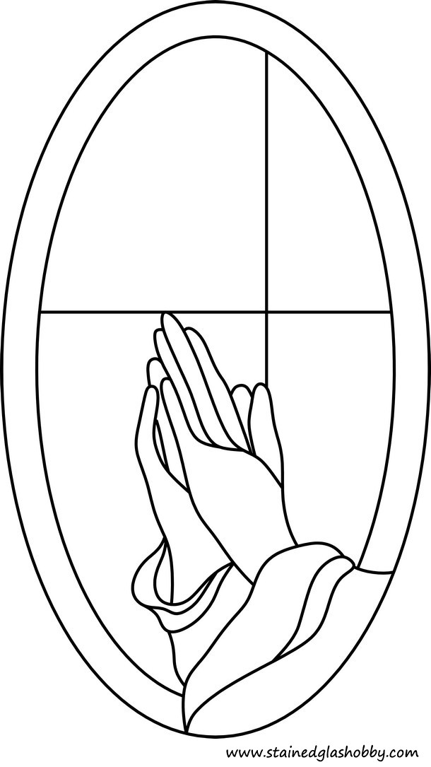 Praying Stained Glass Design
