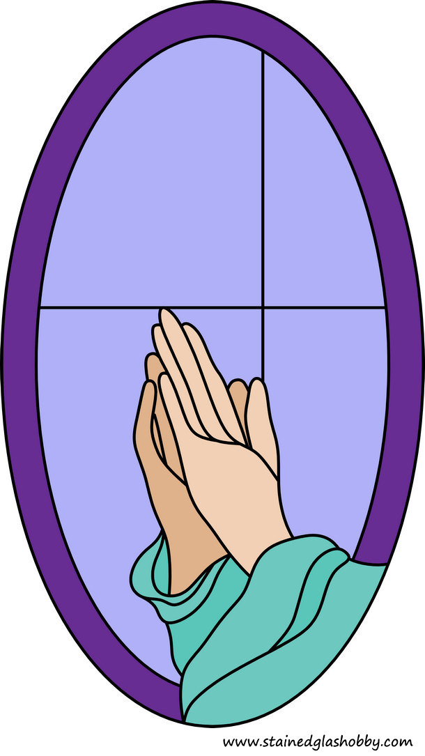 Praying Hands Stained Glass Pattern
