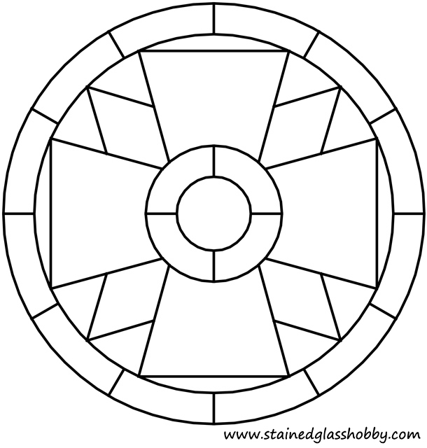 Gallery for simple stained glass cross patterns - Stained glass ideas patterns ...
