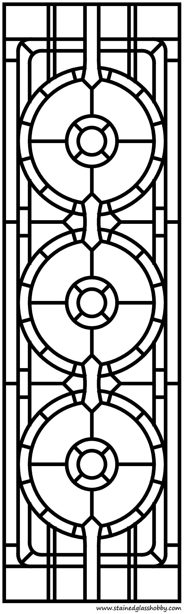 Celtic Modern Stained Glass Panel