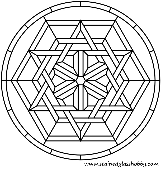 Celtic Stained Glass Coloring Pages