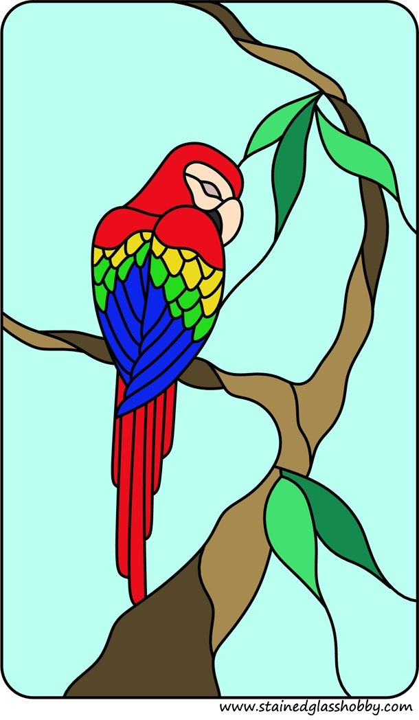 Parrot Stained Glass