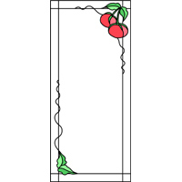 cherries panel for stained glass