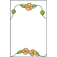 Flowers panel stained glass