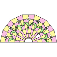 Semi-circular stained glass pattern 1