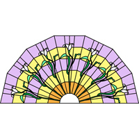 Semi-circular stained glass pattern 2