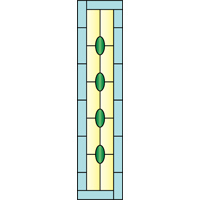 Rectangular panel for stained glass 3