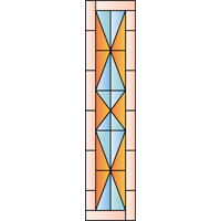 Rectangular panel for stained glass 5
