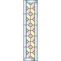 Rectangular panel for stained glass 6