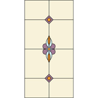 Rectangular stained glass panel 2