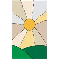 Sunset Sunrise stained glass pattern