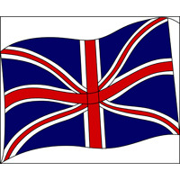 UK flag stained glass panel