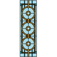 stylised stained glass