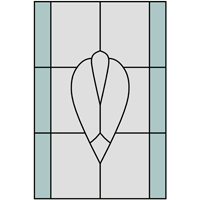 Simple window stained glass design