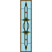 Celtic stained glass door panel pattern