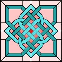 Celtic knot square pattern for stained glass