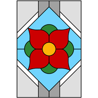 Flower window stained glass design