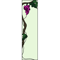 grapes stained glass art