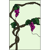 wide grapes window panel